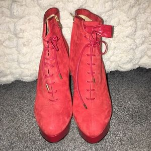 Charlotte Olympia suede boots